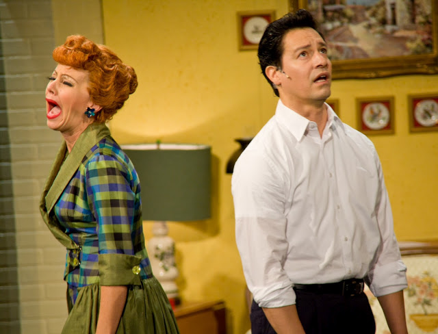 Left to Right: Sirena Irwin (Lucy Ricardo) and Bill Mendieta (Ricky Ricardo). Photo credit: Justin Barbin.