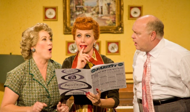Left to Right: Joanna Daniels (Ethel Mertz), Sirena Irwin (Lucy Ricardo) and Curtis Pettyjohn (Fred Mertz). Photo courtesy: Justin Barbin.