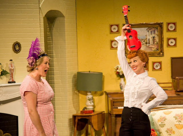 Left to Right: Joanna Daniels (Ethel Mertz) and Sirena Irwin (Lucy Ricardo). Photo credit: Justin Barbin.