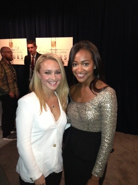 """With @haydenpanettier of @Nashville_ABC at #NFLHonors"""
