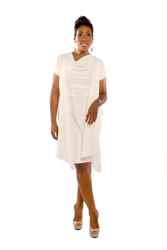 Karli Harvey modeling Ms. Ganier's dress