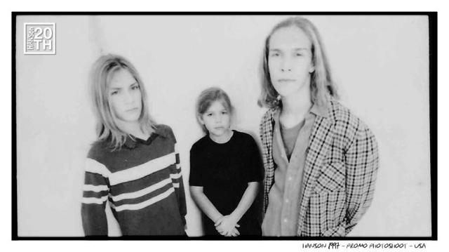 American pop rock band Hanson (they are brothers)