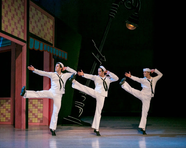 Stars of American Ballet  in 'Fancy Free' by Jerome Robbins Photo by Sharon Bradford