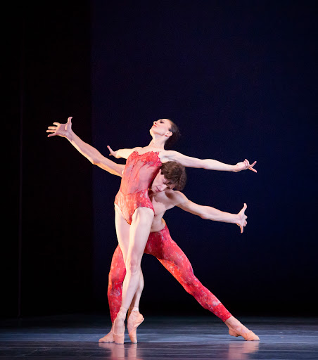 The Joffrey Ballet  in 'Bells' by Yuri Possokhov Dancers: Temur Suluashvili and Victoria Jaiani Photo by Cheryl Mann