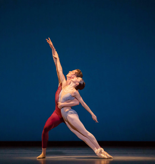 "April Daly & Dylan Gutierrez in Christopher Wheeldon's ""Liturgy"". Photo by Cheryl Mann"