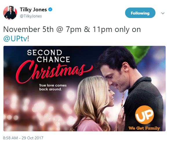 """Tilky Jones Returns to UPtv for """"Second Chance Christmas"""